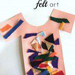 felt art: joseph's coat