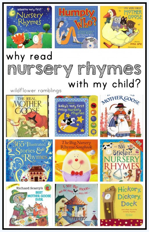 why read nursery rhymes with my child? preschool teaching resources!!