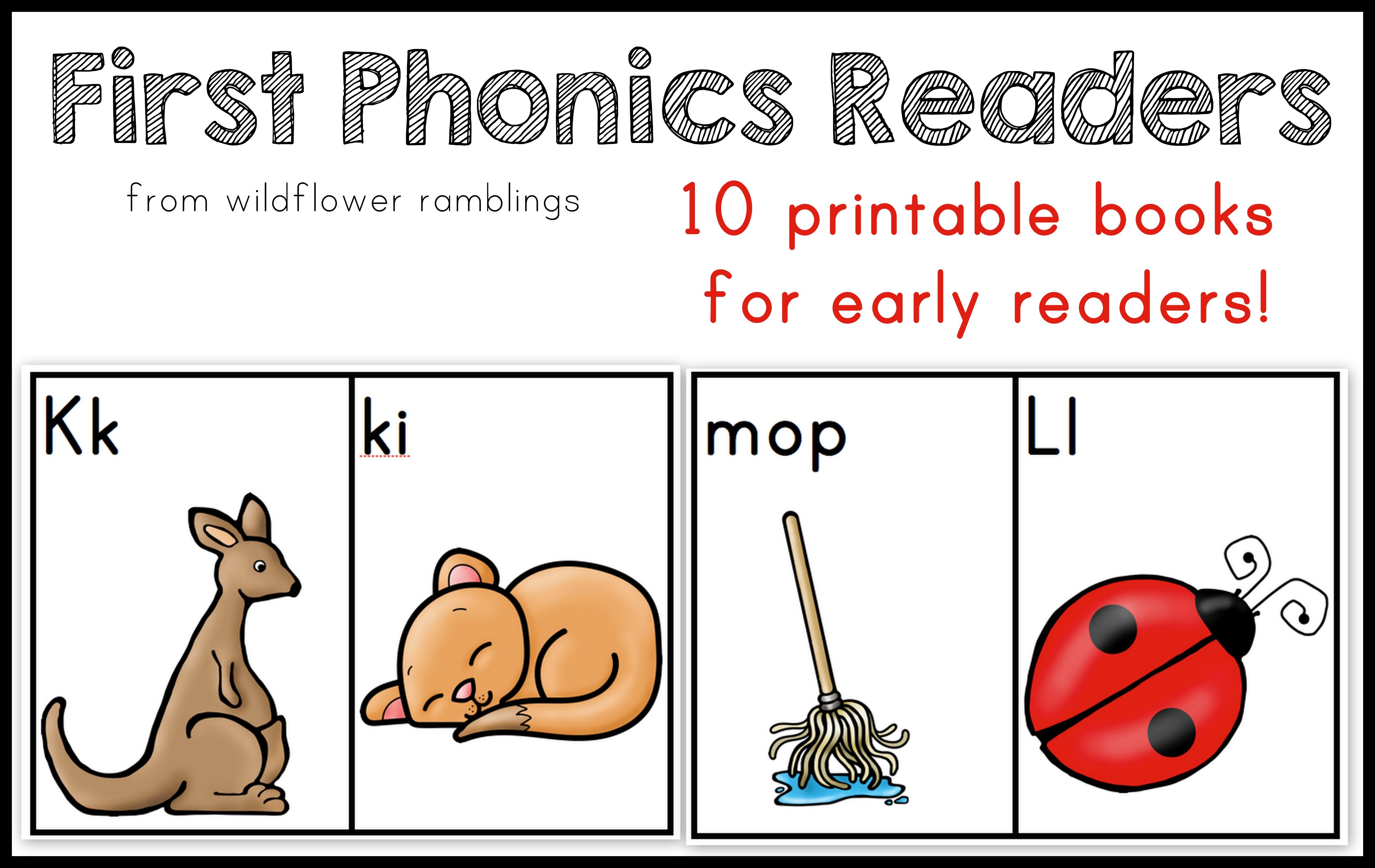 First Phonics Readers Book 1 Wildflower Ramblings New