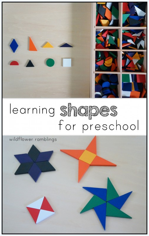 learning shapes for preschool
