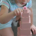 the montessori pink tower