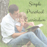 Easy Preschool Curriculum